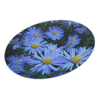 Blue Daisies Plate