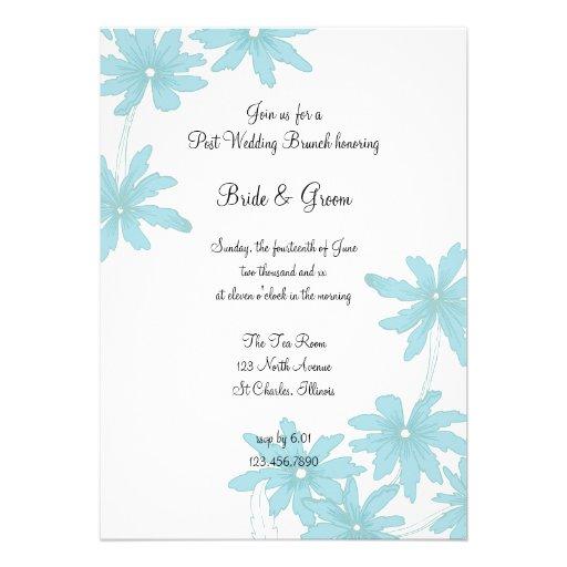 Blue Daisies Post Wedding Brunch Invitation