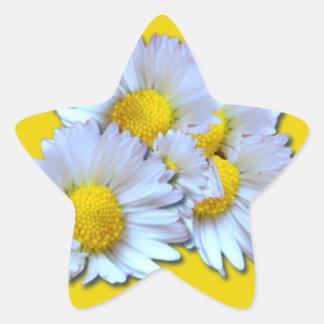 Blue Daisies Star Sticker