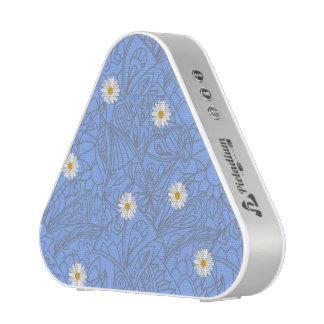 Blue daisies striped pattern. Wedding style Bluetooth Speaker
