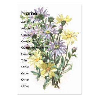 Blue Daisies Victorian Scrapbook Card Business Card Template