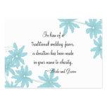 Blue Daisies Wedding Charity Favor Card Business Card