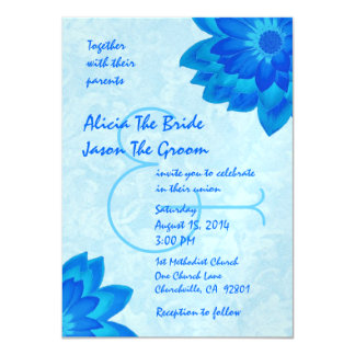 Blue Daisies Wedding Template V1