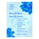 Blue Daisies Wedding Template V1 Personalized Invite