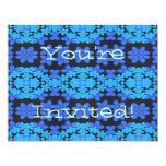 Blue Daisy Chain Customizeable Invitation