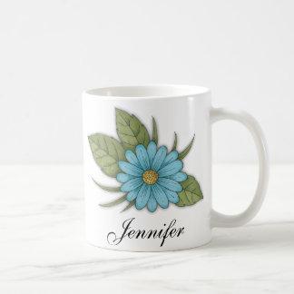 Blue Daisy Classic White Coffee Mug