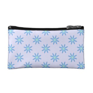 Blue Daisy Cosmetic Bag