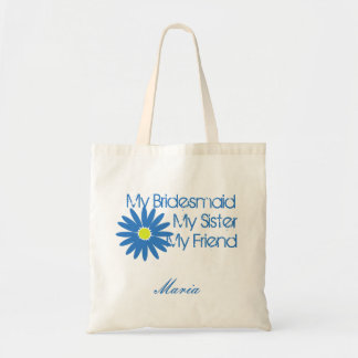 Blue Daisy/ Customizable Tote Bag