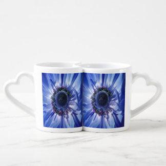 Blue Daisy Duo Coffee Mug Set
