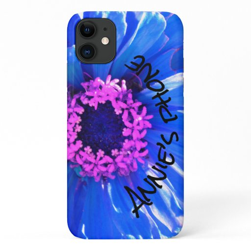 Blue Daisy floral photo iPhone 11 Case