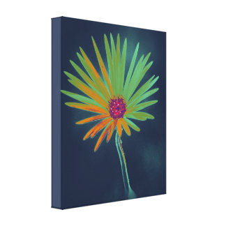 Blue Daisy Flower Canvas Print