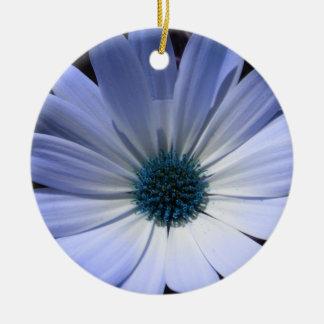 Blue Daisy Flower Custom Birthday Ceramic Ornament