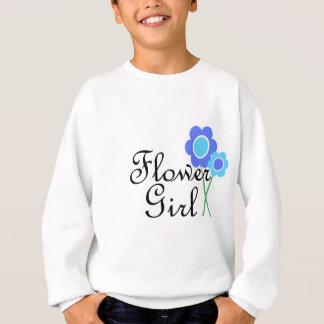 Blue Daisy Flower Girl Sweatshirt