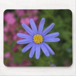 Blue Daisy Flower Mouse Mat