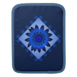 Blue Daisy Flower, Pattern Stripes Sleeve Sleeves For iPads