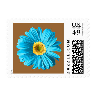 Blue Daisy Flower Postage