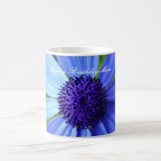 Blue Daisy, Happy Birthday Mom Coffee Mug