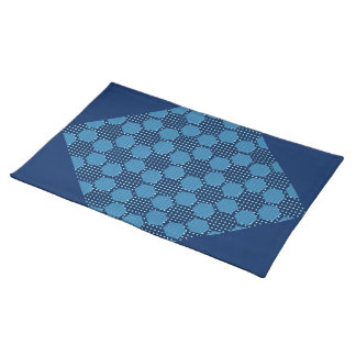 BLUE DAISY HEX LARGE PLACEMATS