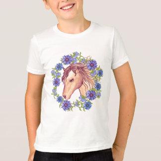 Blue Daisy Horse T-Shirt