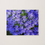 Blue Daisy-like Flowers Nature Photography Jigsaw Puzzle
