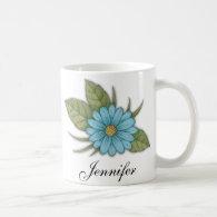 Blue Daisy Mugs