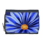 Blue Daisy Painting Wallet