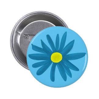 Blue Daisy Pinback Button