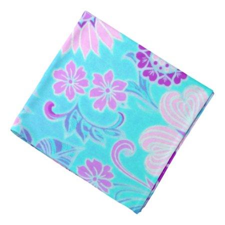 Blue Daisy Retro Print Bandanna