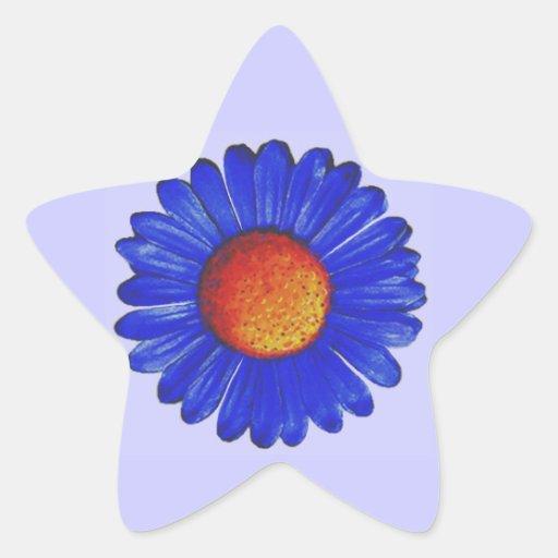 Blue Daisy Sticker