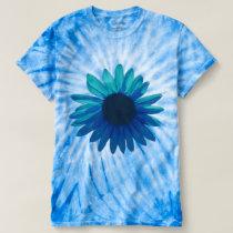 Blue Daisy Tie Dye Shirt