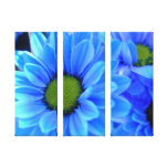 Blue Daisy Wrapped Canvas Stretched Canvas Print