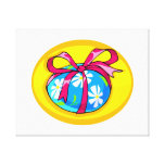 blue daisy wrapped easter egg yellow oval.png canvas print