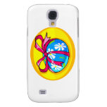 blue daisy wrapped easter egg yellow oval.png samsung galaxy s4 covers