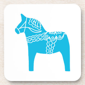 Blue Dala Horse Beverage Coaster
