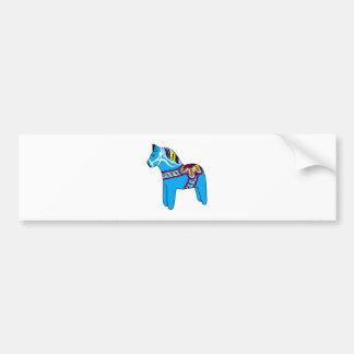 Blue Dala Horse Bumper Stickers
