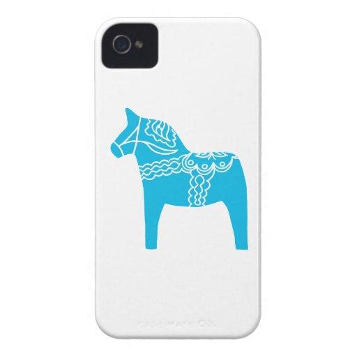 Blue Dala Horse Case-Mate iPhone 4 Case