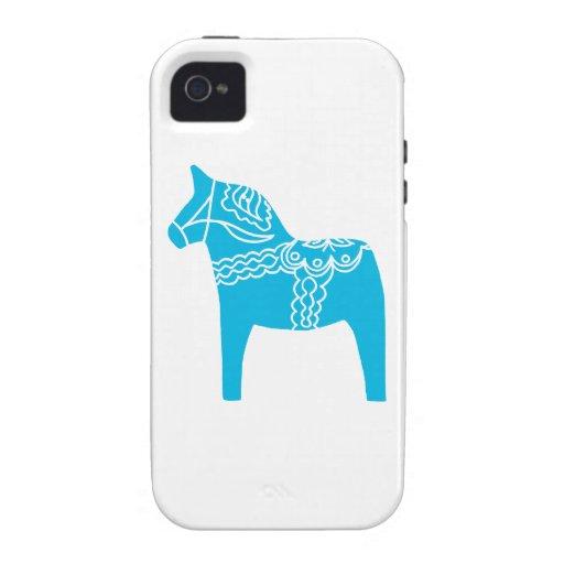 Blue Dala Horse iPhone 4/4S Case