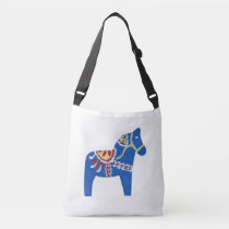 Blue Dala Horse Crossbody Bag