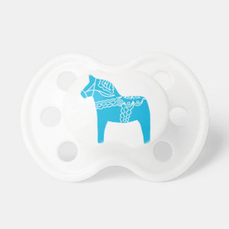 Blue Dala Horse Baby Pacifier