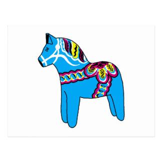 Blue Dala Horse Post Cards