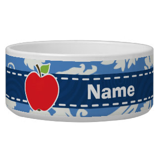 Blue Damask; Apple Bowl