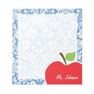 Blue Damask; Apple Notepad