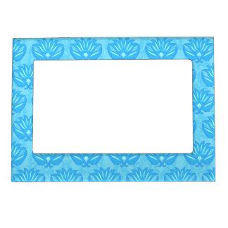 Blue Damask Baby Boy Name Personalized Magnetic Photo Frame