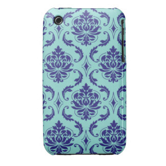 Blue Damask Case-Mate iPhone 3 Case