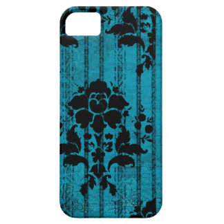 Blue Damask Case-Mate iPhone 5 Barely There Case iPhone 5 Cases