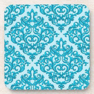 Blue Damask Drink Coasters