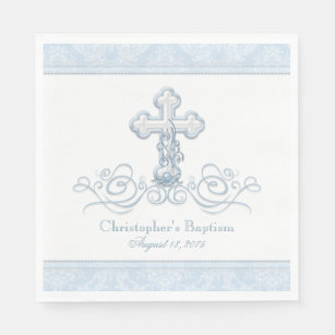 50 Cross logo Luncheon Dinner personalized napkins cristening baptism communion special event