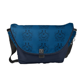 Blue Damask Customizable Bag Commuter Bag