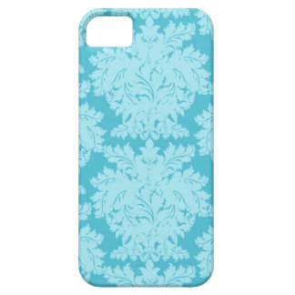 Blue Damask iPhone 5 Cases