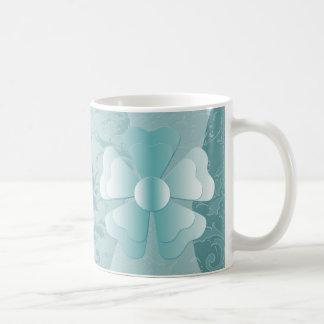 Blue Damask Mug